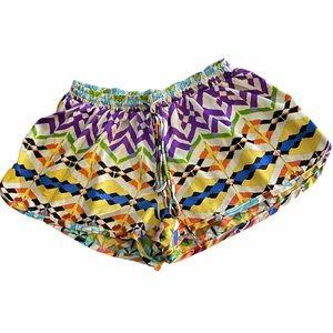 LF MILLAU colorful silky shorts